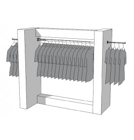 Glossy middenunit kledingrek R-PR-011