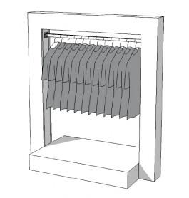 Glossy middenunit kledingrek R-PR-012