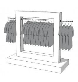 Glossy middenunit kledingrek R-PR-017