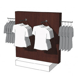 Glossy duo tone middenunit kledingrek R-PR-018-W
