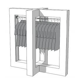 Glossy middenunit kledingrek R-PR-019