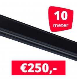 Rails voor verlichting zwart set van 10M