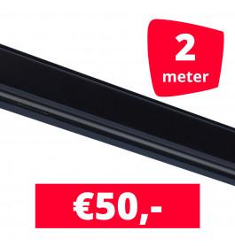 Rails voor verlichting zwart set van 2M