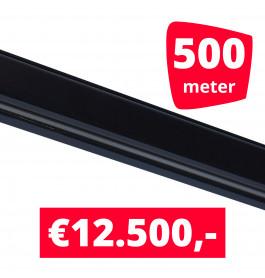 Rails voor verlichting zwart set van 500M
