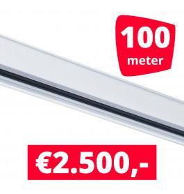 Rails voor verlichting wit set van 100M