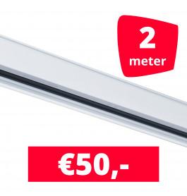 Rails voor verlichting wit set van 2M