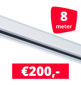 Rails voor verlichting wit set van 8M