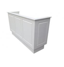 Nieuwe toonbank 250 cm breed in het wit met open bovenkant