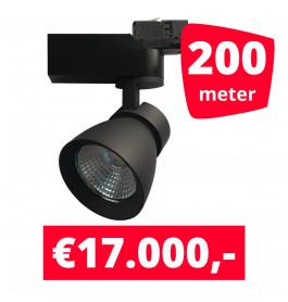 LED Railverlichting Rocket Zwart 200 spots + 200M rails
