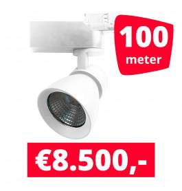 LED Railverlichting Rocket Wit 100 spots + 100M rails