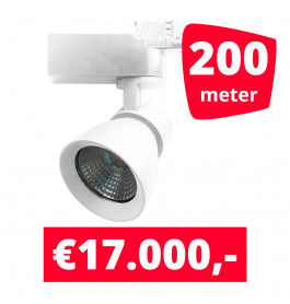 LED Railverlichting Rocket Wit 200 spots + 200M rails