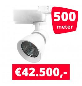 LED Railverlichting Rocket Wit 500 spots + 500M rails