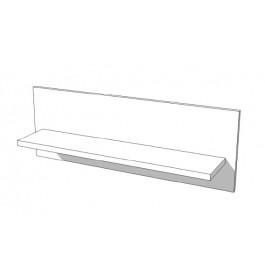 High glossy wit wandplank S-VEC-013