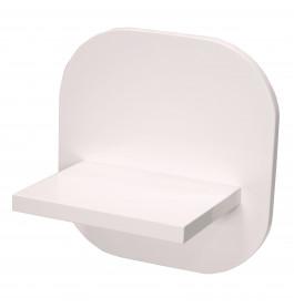 High glossy wit wandplankje S-VEC-014