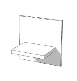High glossy wit wandplankje S-VEC-015