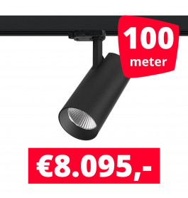 LED Railverlichting Saros Zwart 100 spots + 100M rails