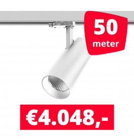 LED Railverlichting Saros Wit 50 spots + 50M rails