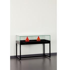 Special vitrinekasten Tafelvitrine met gasdrukveren RAL 9005 zwart