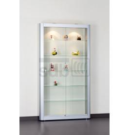 Special vitrinekast Senza | Technisch geanodiseerd 111 CM zonder opties | Lichtgrijs