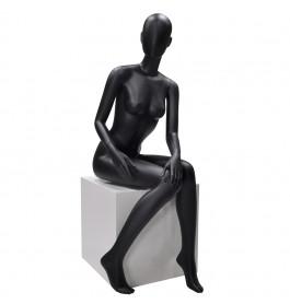 Faceless etalagepop dame zittend zwart  merk Gruppo Corso