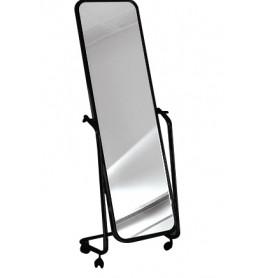 Italiaanse spiegels op wieltjes 145 cm x 44 cm mat zwart frame