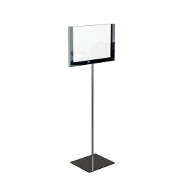 Display A6 chrome op statief ST0043.CHROME