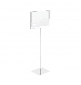 Display A6 wit op statief ST0043.WHITE