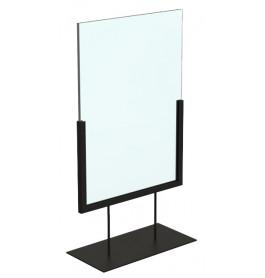 Display laag A4 zwart staand ST0045