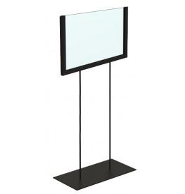 Display hoog A5 zwart liggend ST0041