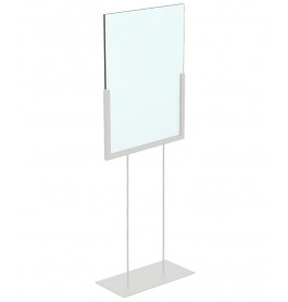 Display hoog A4 wit staand ST0046_displayhigh_white_a4