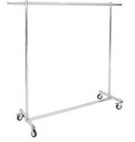 strong edition, vaste hoogte, XXL LUXE chromen Inklapbaar kledingrek extra breed van onze fabriek uit Italie