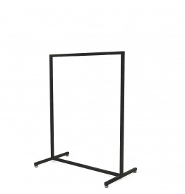 Solo Laag model zwart Italiaans design kledingrek 90 cm breed