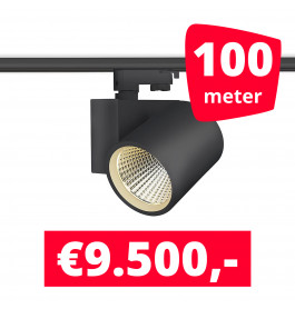 LED Railverlichting Stella Black 100 spots + 100M rails
