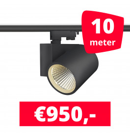 LED Railverlichting Stella Black 10 spots + 10M rails