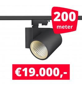 LED Railverlichting Stella Black 200 spots + 200M rails