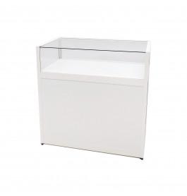 Telefoonwinkel Toonbank + Vitrine Wit 100cm Breed Top Glass