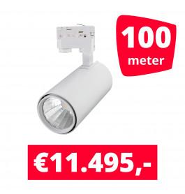 LED Railverlichting Style Wit 100 spots + 100M rails