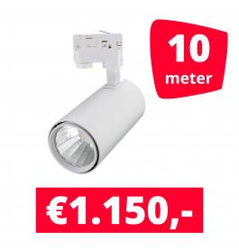 LED Railverlichting Style Wit 10 spots + 10M rails