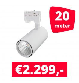 LED Railverlichting Style Wit 20 spots + 20M rails