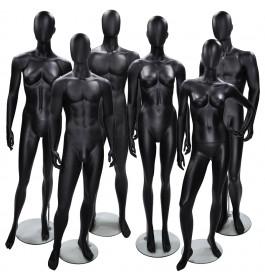 6x Faceless etalagepop merk Gruppo Corso MIX zwart