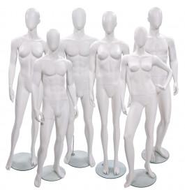 6x Faceless etalagepoppen merk gruppo corso mix wit