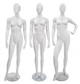 3x Faceless etalagepop DAME merk Gruppo Corso  MIX wit
