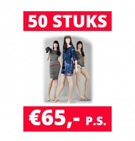 Aanbieding! Paspoppen | 50 paspoppen in de mix voor €65,- p.s.!