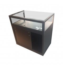 Telefoonwinkel Toonbank + Vitrine Zwart 100cm Breed Glas met slot