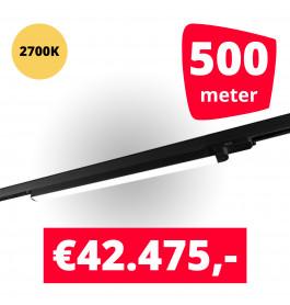 LED Railverlichting TL Linear Zwart 2700K 500 spots + 500M rails