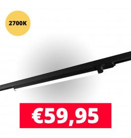 LED Railverlichting TL Linear 120 cm Zwart 2700K