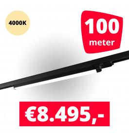 LED Railverlichting TL Linear Zwart 4000K 100 spots + 100M rails