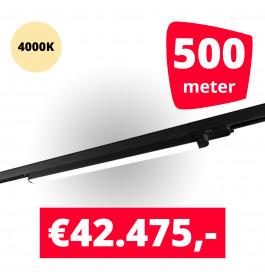 LED Railverlichting TL Linear Zwart 4000K 500 spots + 500M rails