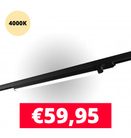 LED Railverlichting TL Linear Zwart 4000K