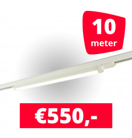 5x LED Railverlichting TL Linear White spots + 10M rails